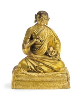 A Gilt Bronze Figure of Yeshe