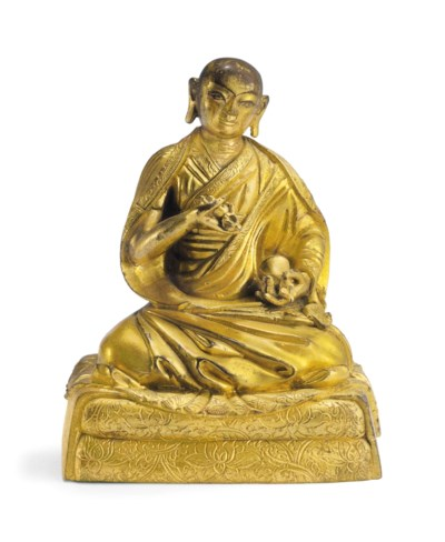 A Gilt Bronze Figure of Yeshe