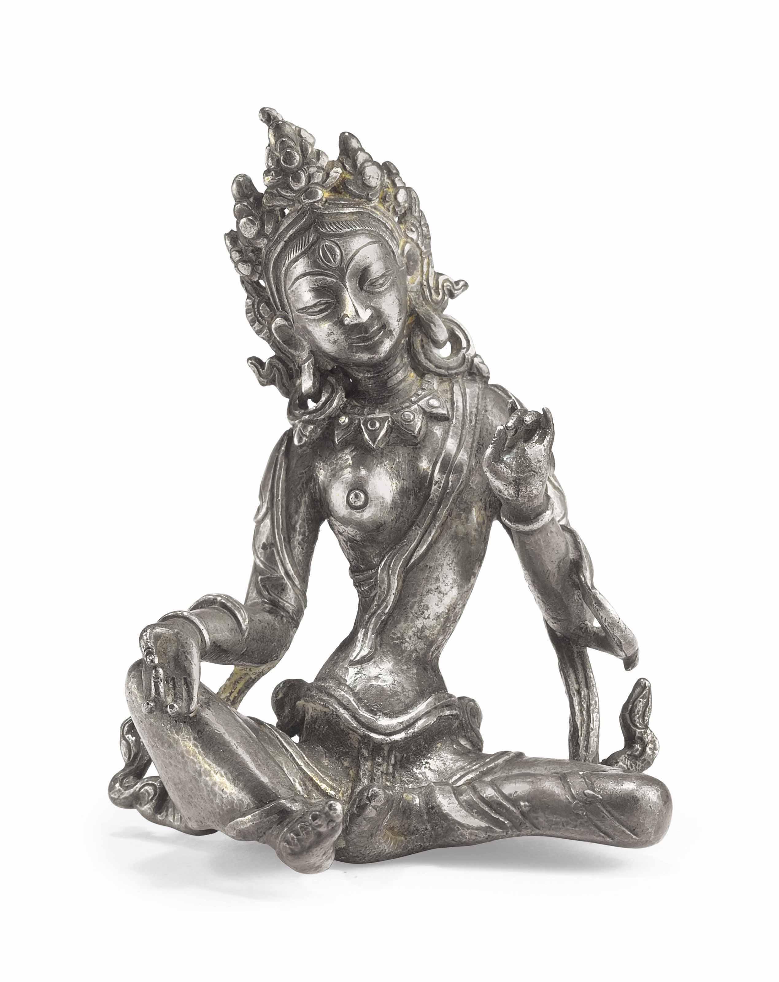 A White Metal Figure of Tara