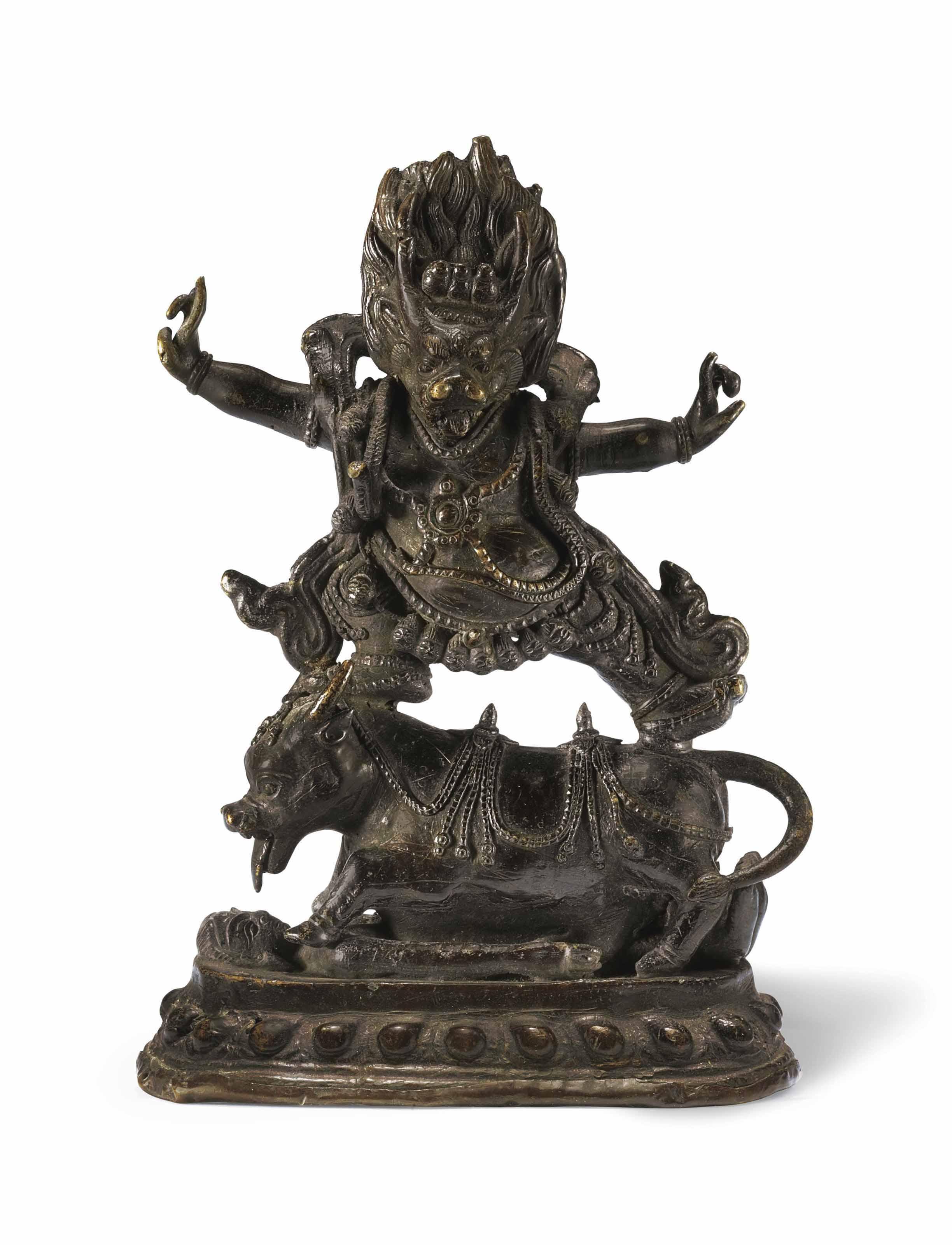 A Bronze Figure of Yamantaka