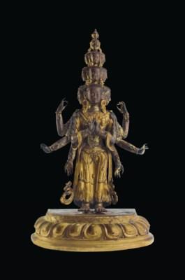 A Gilt Bronze Figure of an Ele