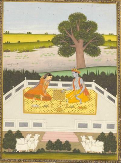 Krishna and Radha play Parchee