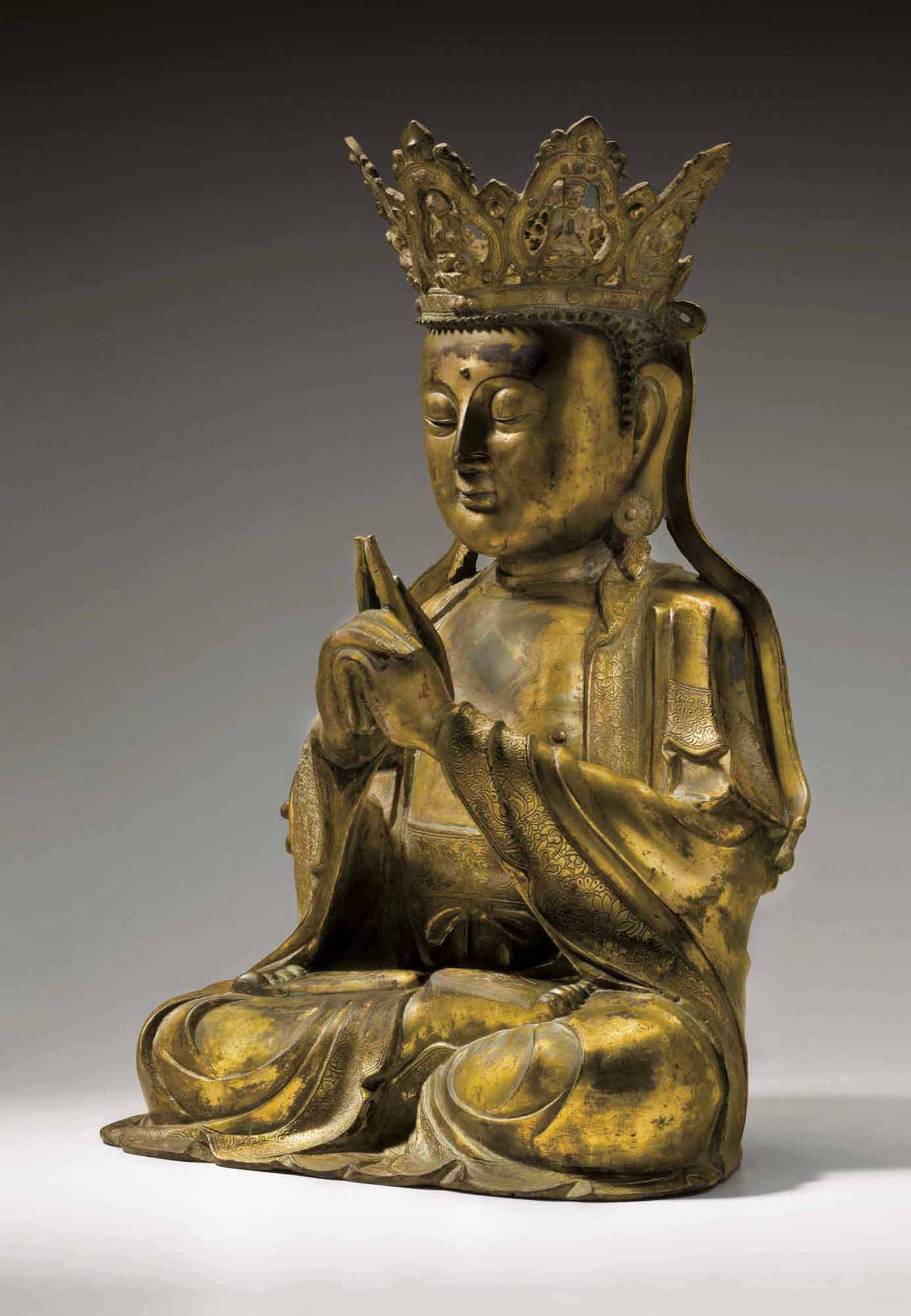 A GILT-BRONZE FIGURE OF VAIROC