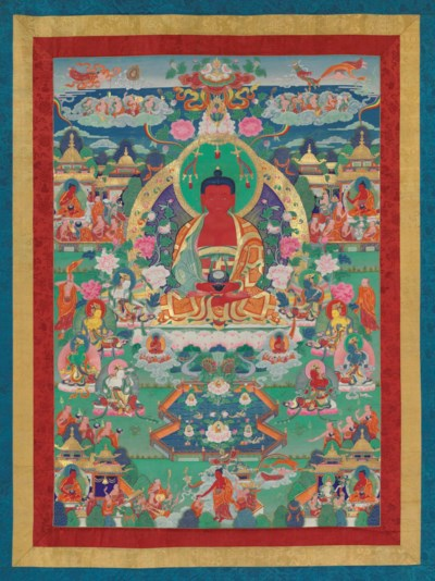 A PAINTING OF AMITABHA IN THE