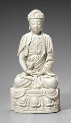 A DEHUA FIGURE OF BUDDHA