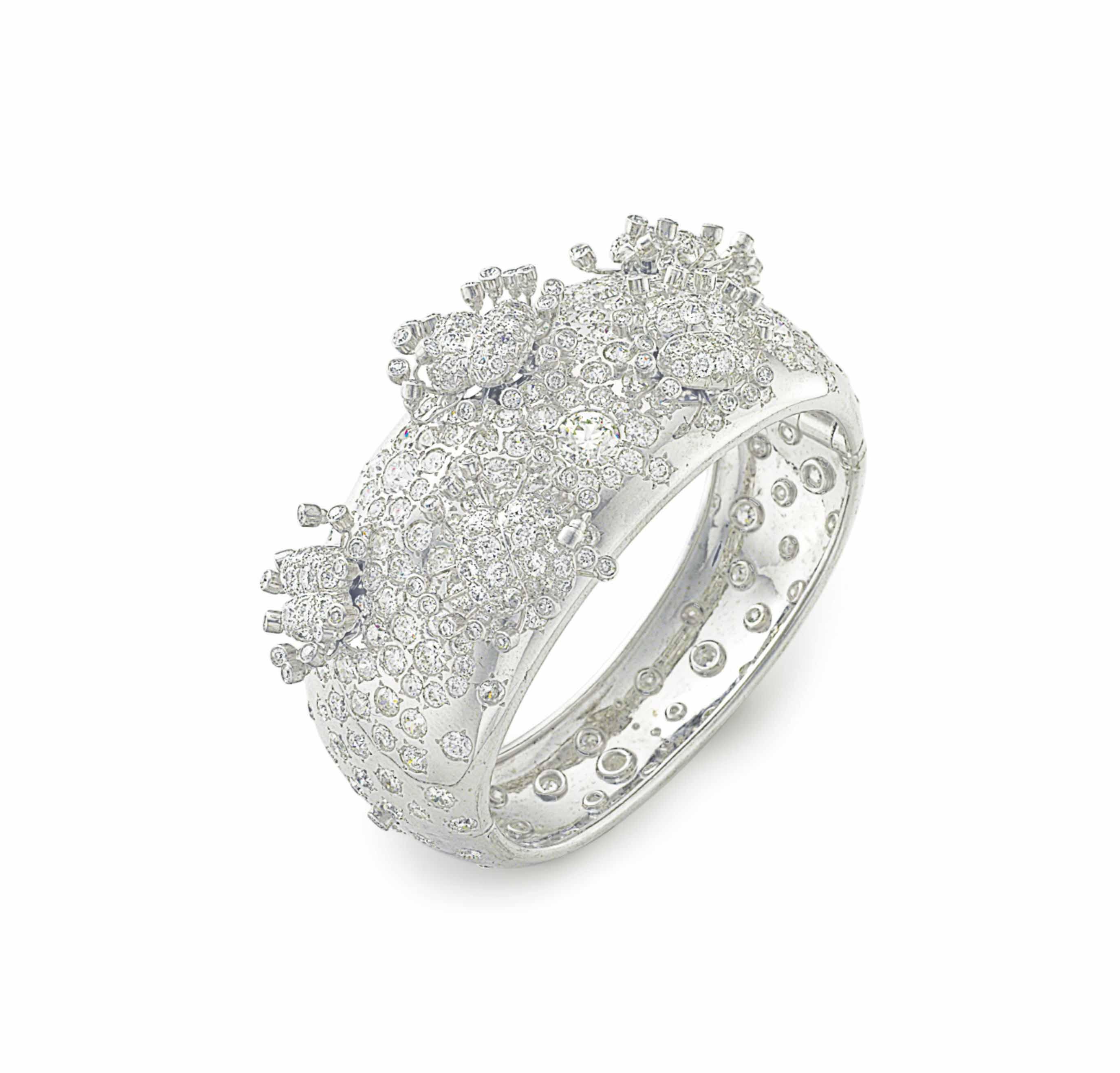 A DIAMOND BANGLE BRACELET, BY JEAN SCHLUMBERGER