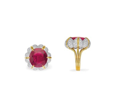 A SENSATIONAL RUBY RING, BY VE