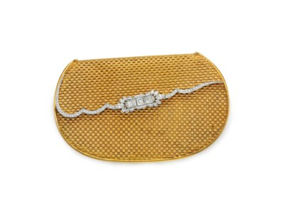 A DIAMOND AND GOLD EVENING BAG