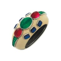 A SILVER, ENAMEL, AND SIMULATED GEMSTONE BRACELET, BY DUKE FULCO DI VERDURA