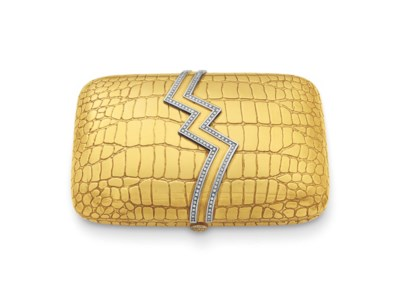 A DIAMOND AND GOLD EVENING BAG