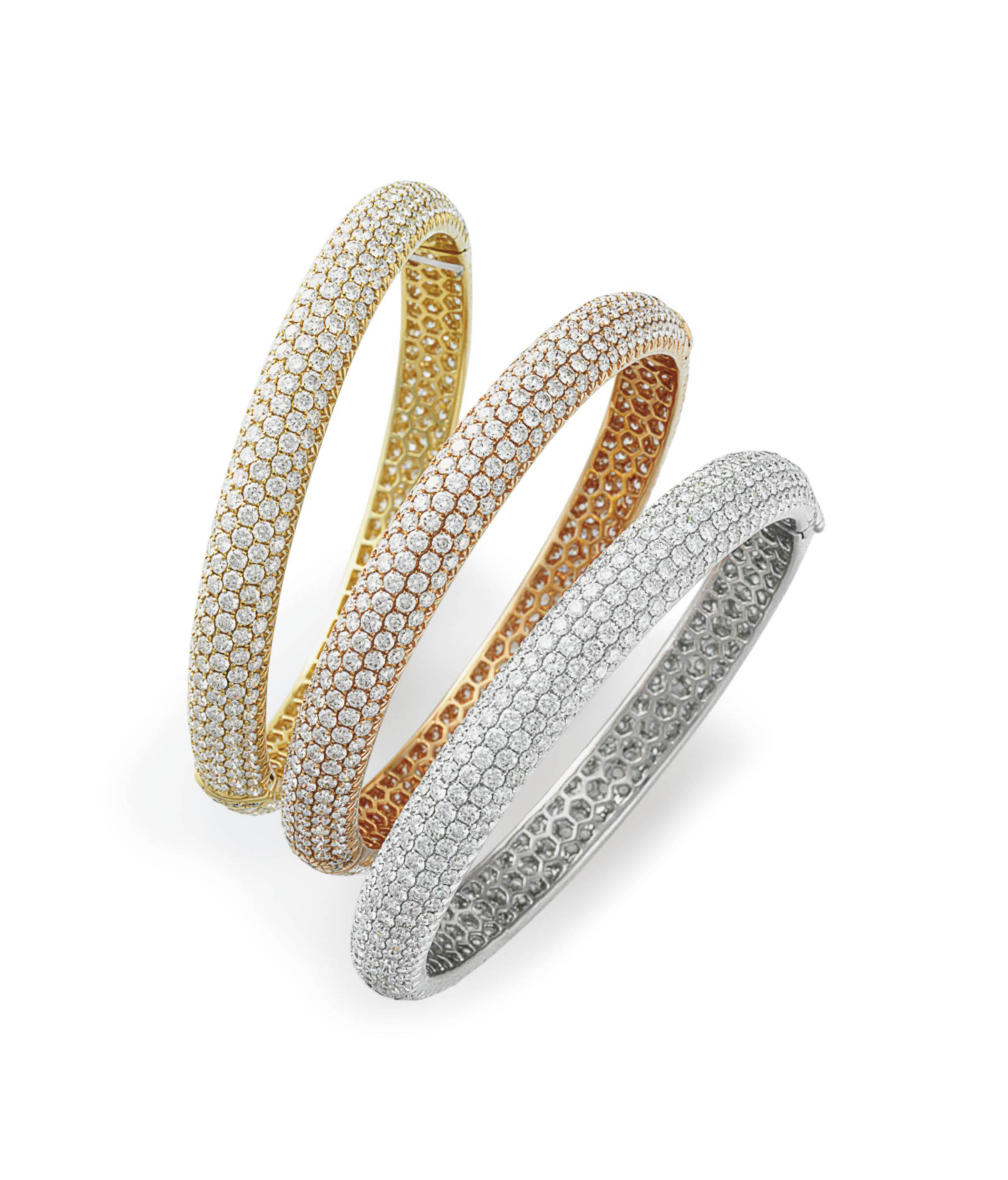 A SET OF THREE DIAMOND AND GOL
