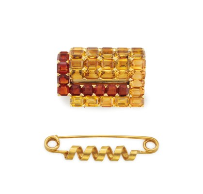 TWO BROOCHES, BY CARTIER