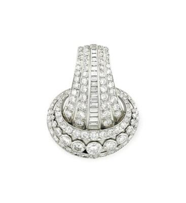 A DIAMOND BROOCH, BY SUZANNE B