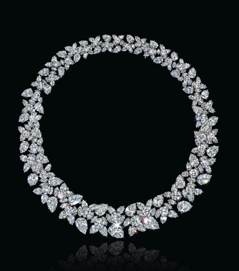 A diamond cluster necklace, by Harry Winston. Sold for $1,027,500 on 7 December 2016 at Christie's in New York