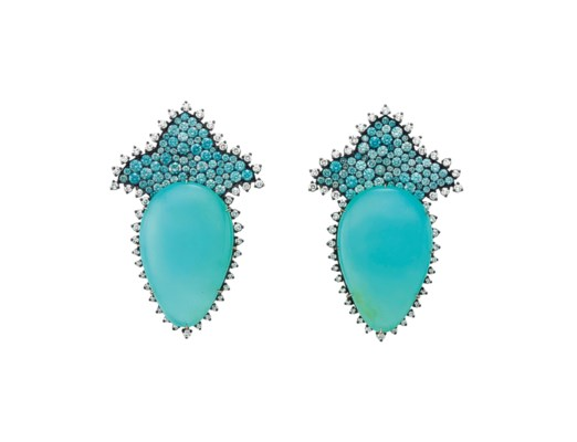 A PAIR OF BLUE OPAL, MULTI-COL