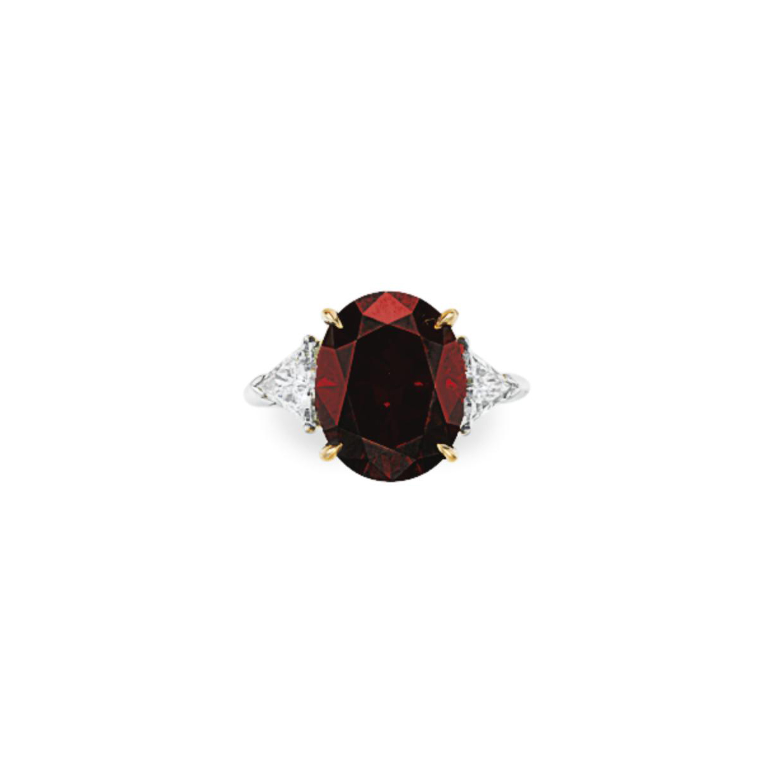 AN UNUSUAL COLORED DIAMOND AND