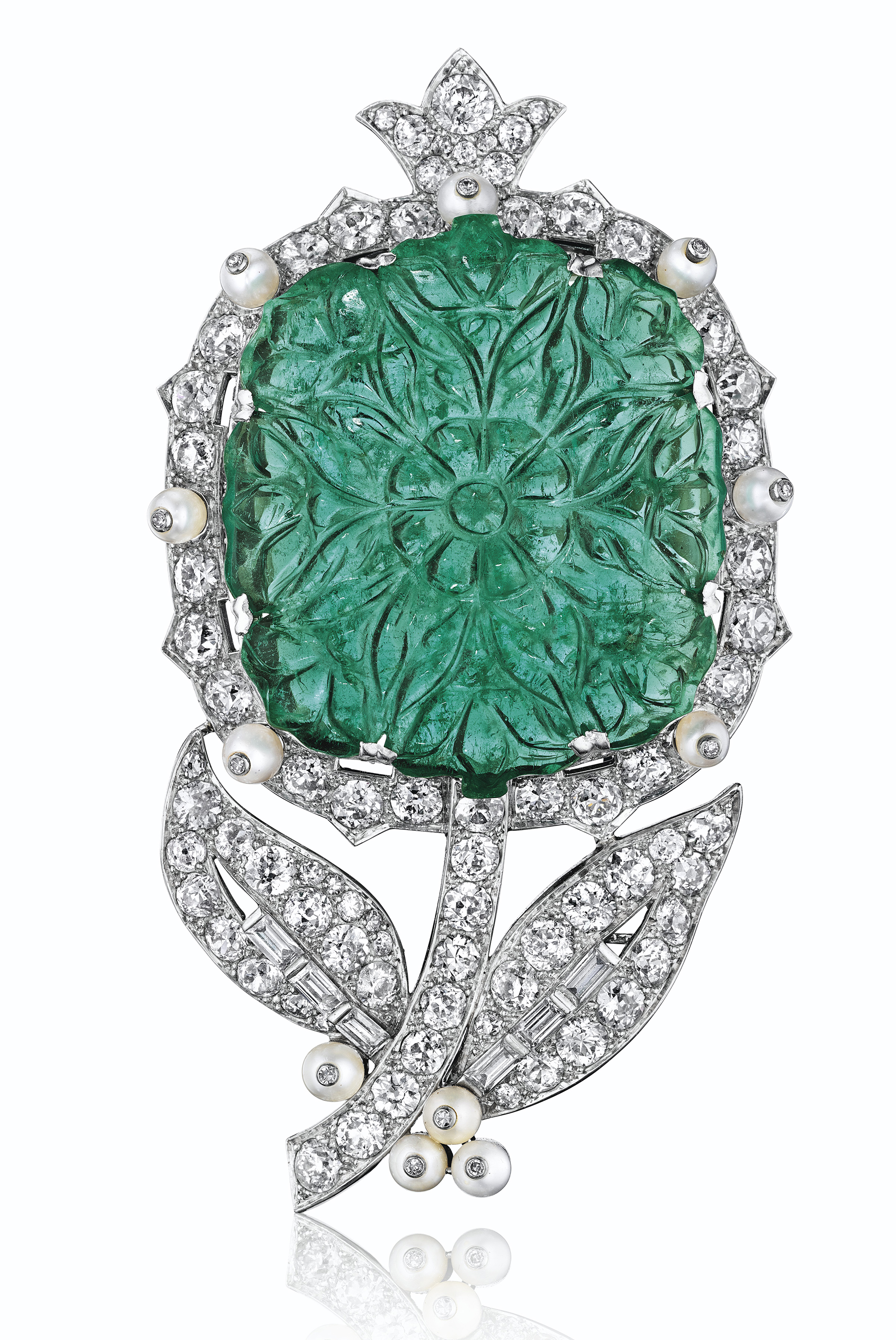 cartier city of biennale focus brooch style birds feather