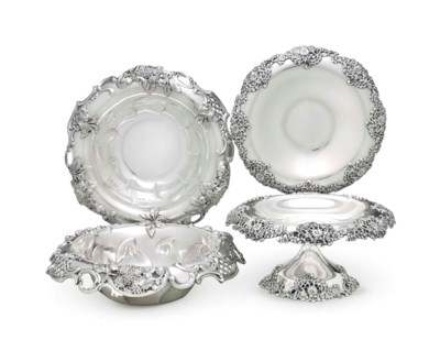 TWO AMERICAN SILVER BOWLS AND