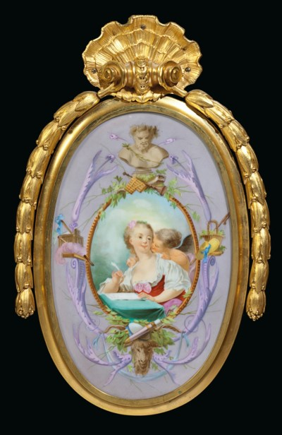 A FRENCH ORMOLU AND SEVRES STY