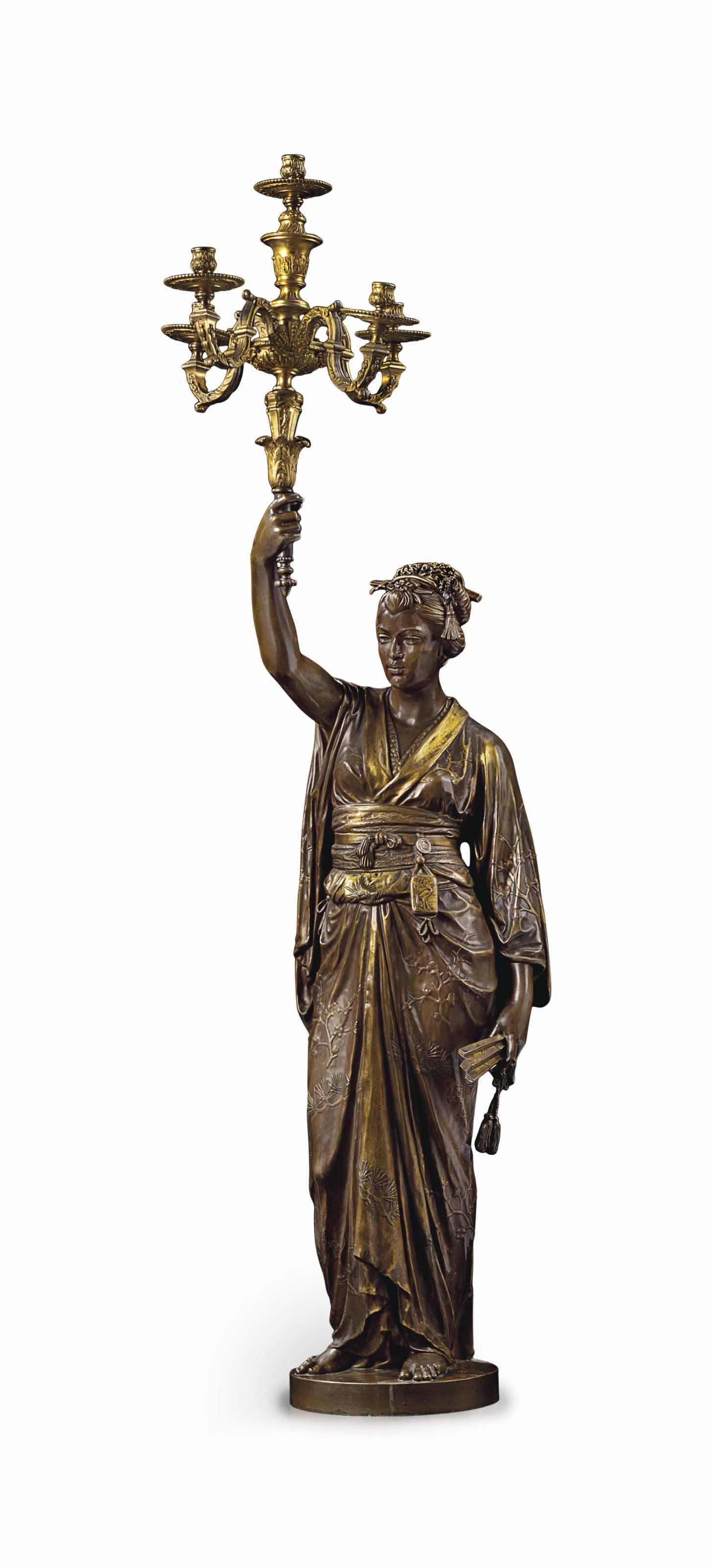 Porte-lumière: Femme japonaise (grandeur originale)
