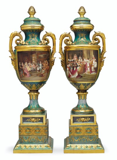 A LARGE PAIR OF VIENNA STYLE P