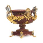 A FRENCH ORMOLU, SILVERED-BRON