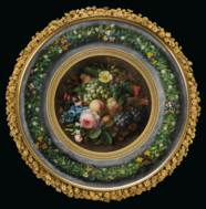 A FINE FRENCH ORMOLU, PAINTED