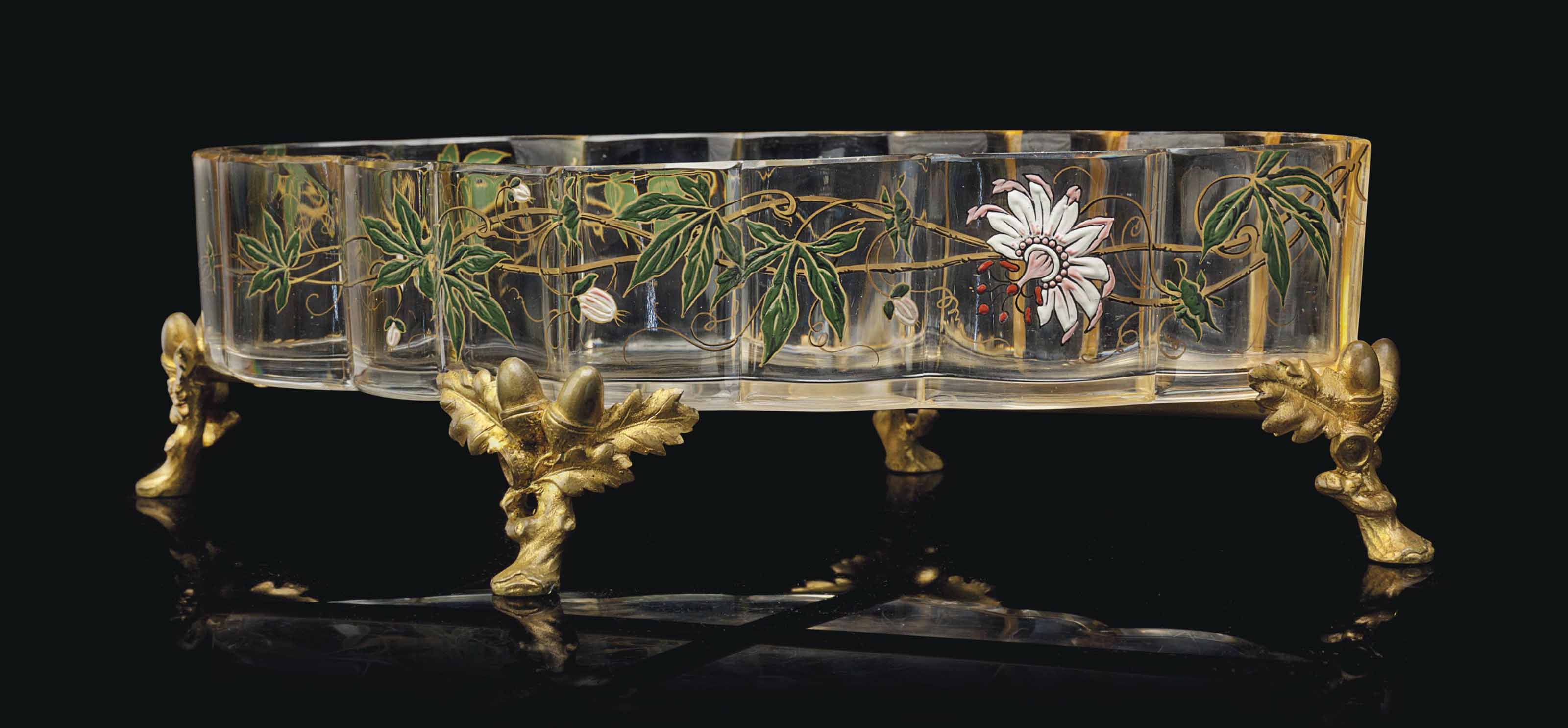 A FRENCH ORMOLU AND ENAMELED C