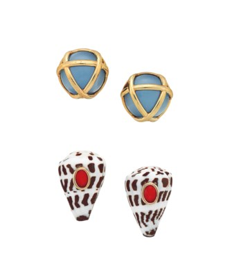 ~TWO PAIRS OF COSTUME JEWELRY