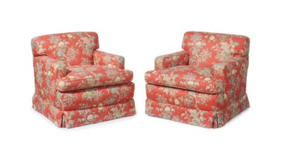 A PAIR OF AMERICAN EASY ARMCHA