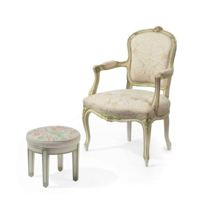 A LOUIS XV STYLE CREAM AND GRE
