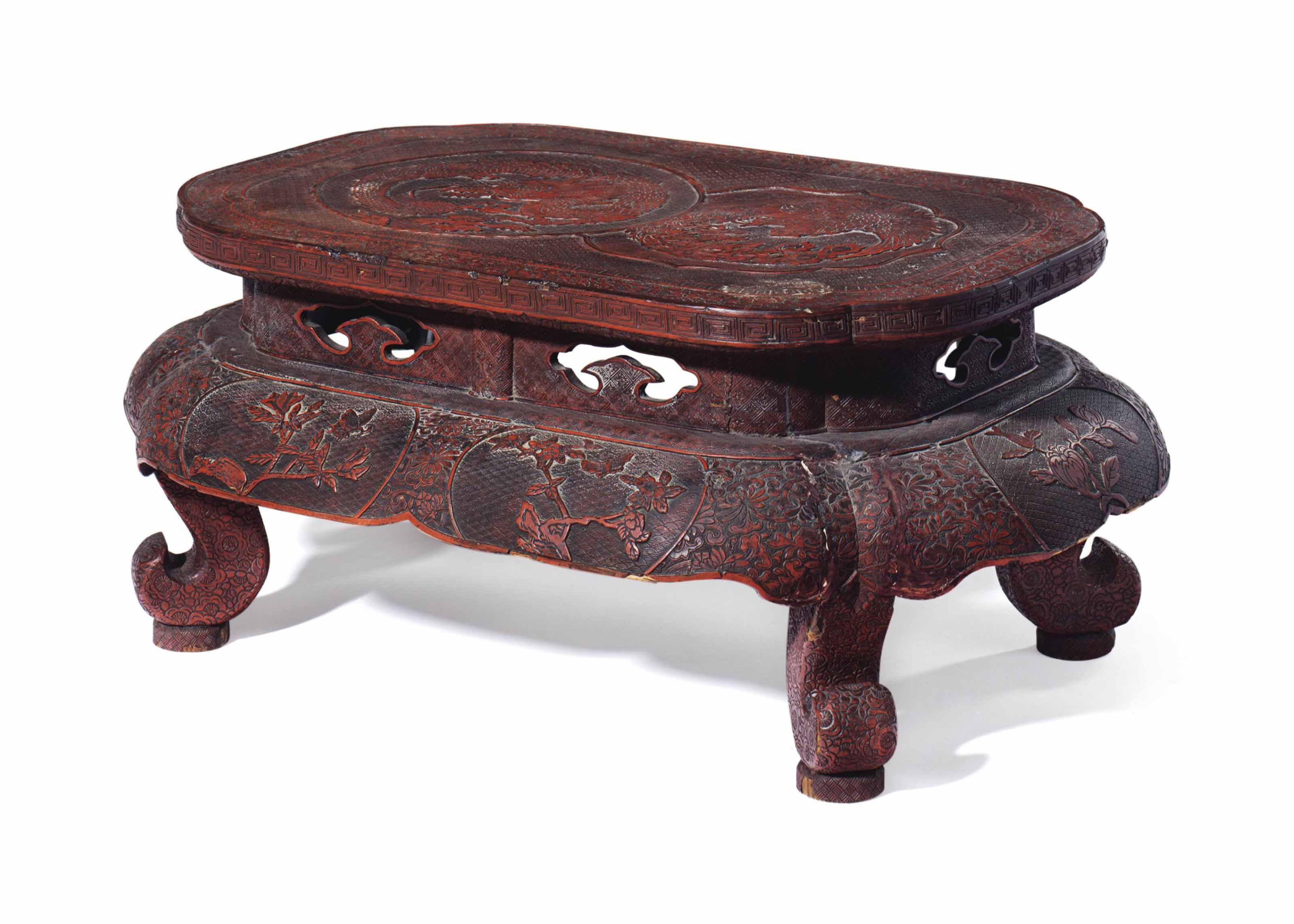 A JAPANESE LACQUER STAND