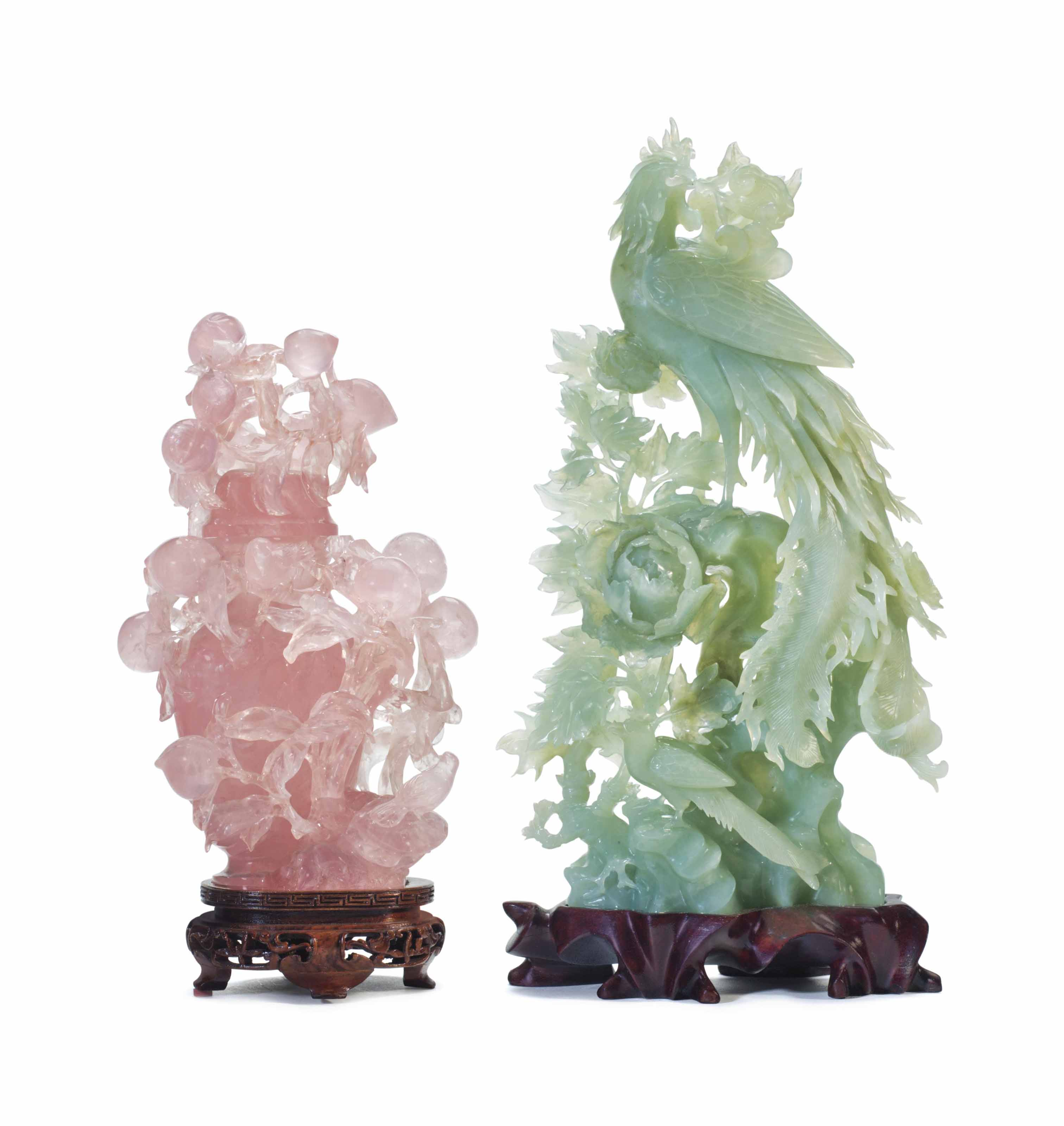 TWO CHINESE HARDSTONE CARVINGS