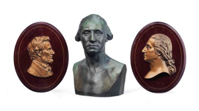 AN AMERICAN PATINATED-BRONZE B