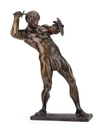 AN AMERICAN PATINATED-BRONZE F