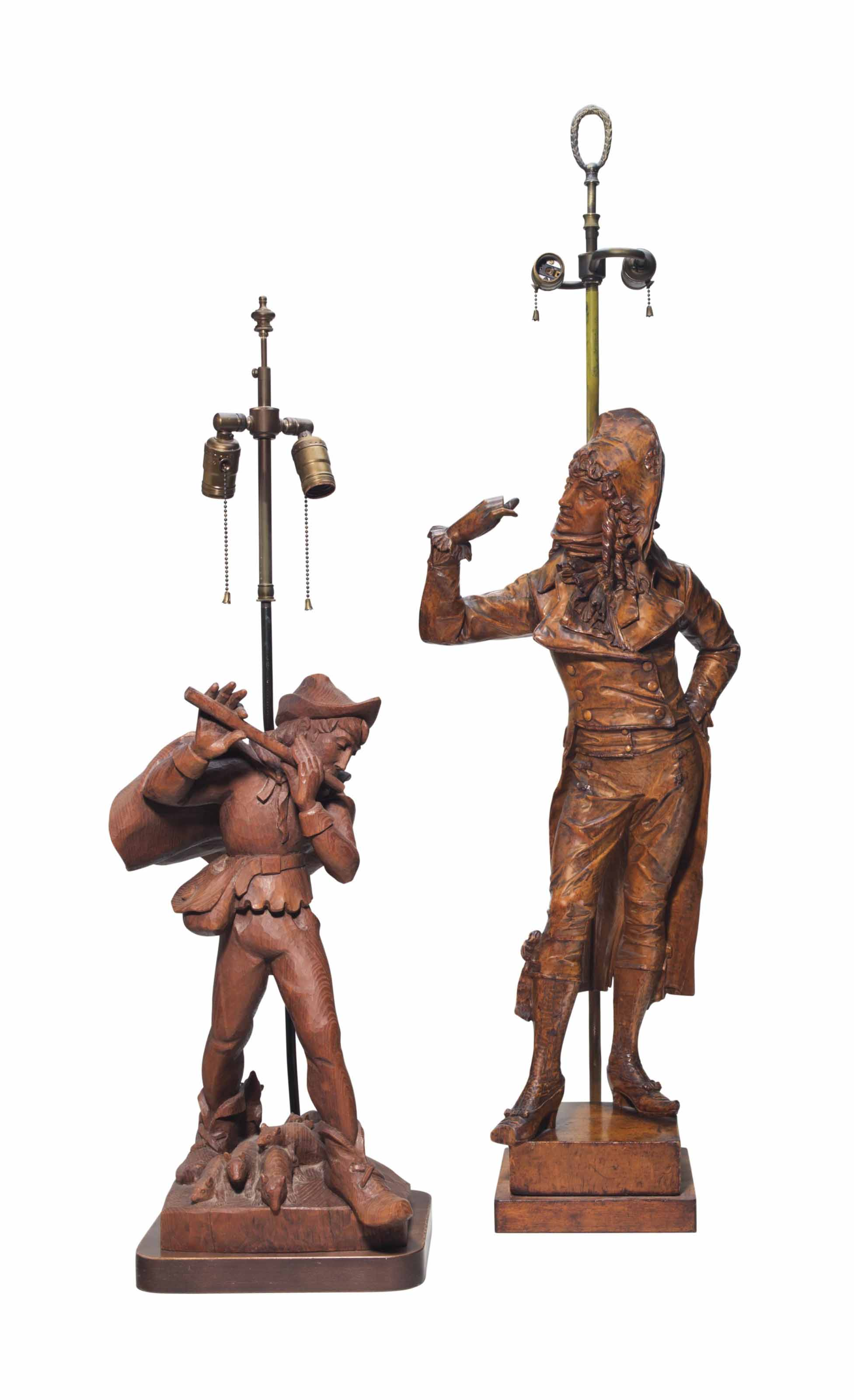 TWO FIGURAL TABLE LAMPS
