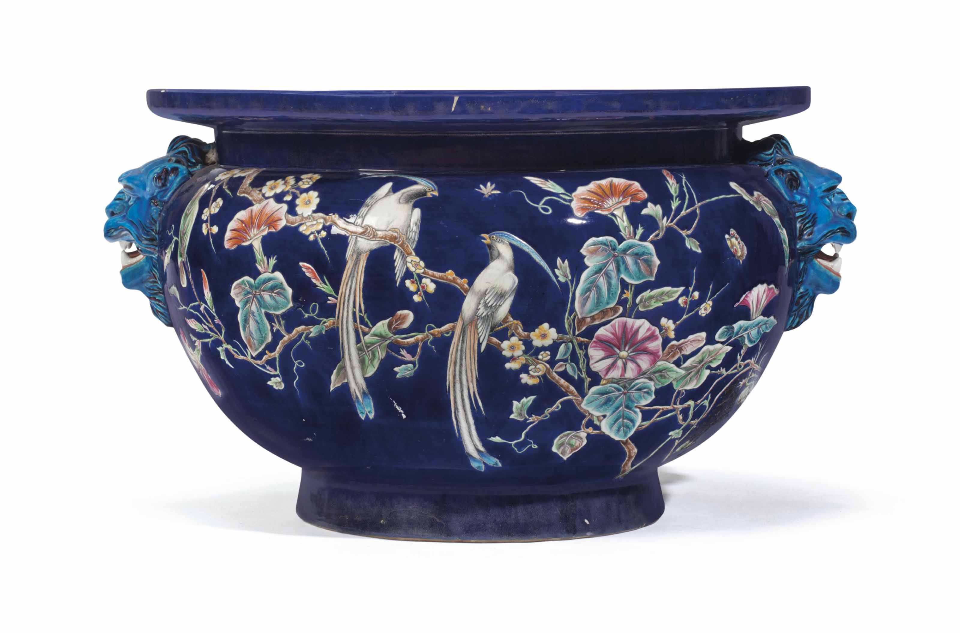 A LARGE FRENCH FAIENCE (EUGENE