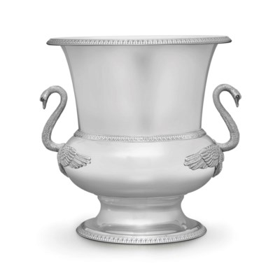 AN ITALIAN SILVER WINE COOLER