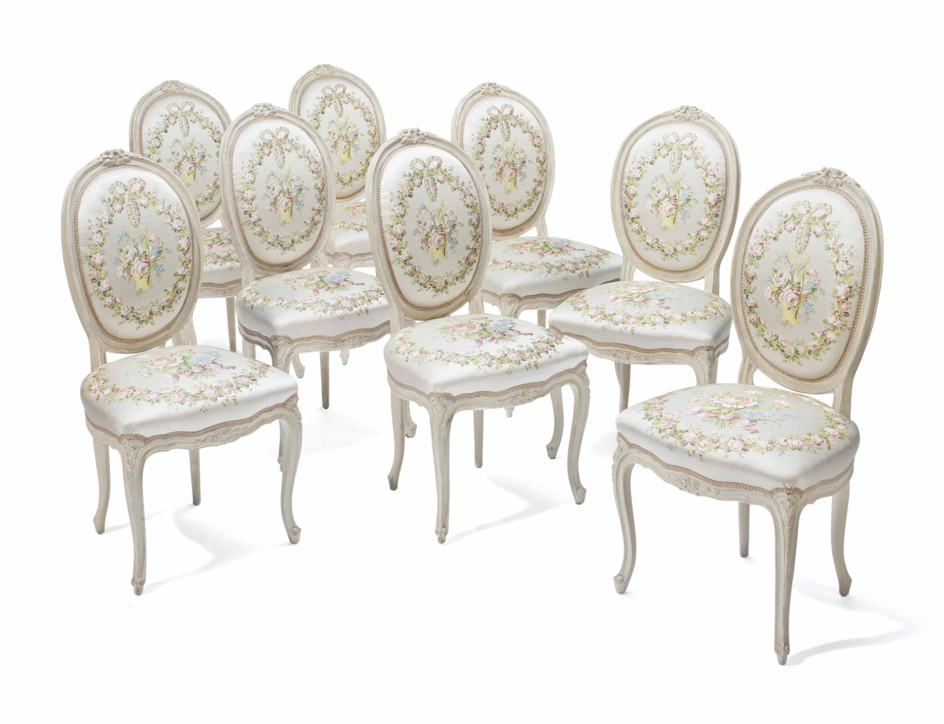 A SET OF EIGHT LOUIS XV STYLE