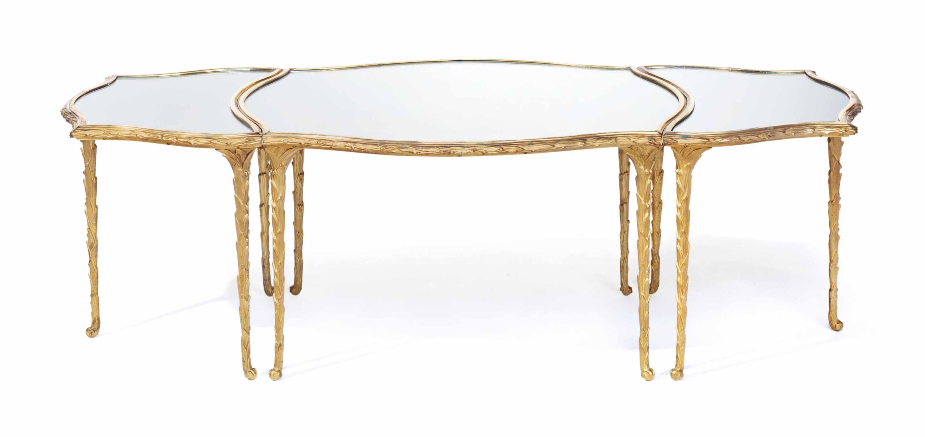 A FRENCH ORMOLU AND MIRRORED G