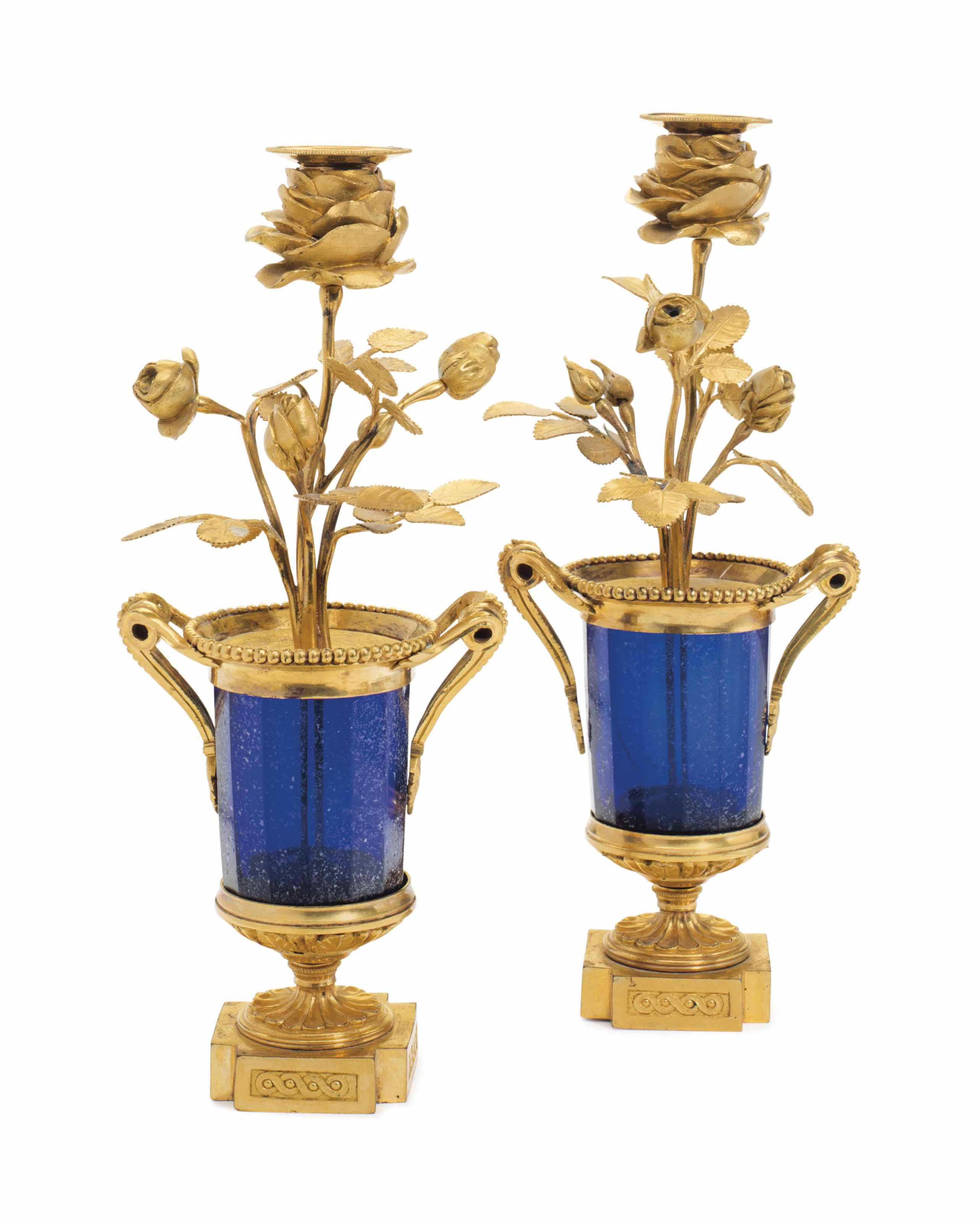 A PAIR OF BALTIC ORMOLU AND CO