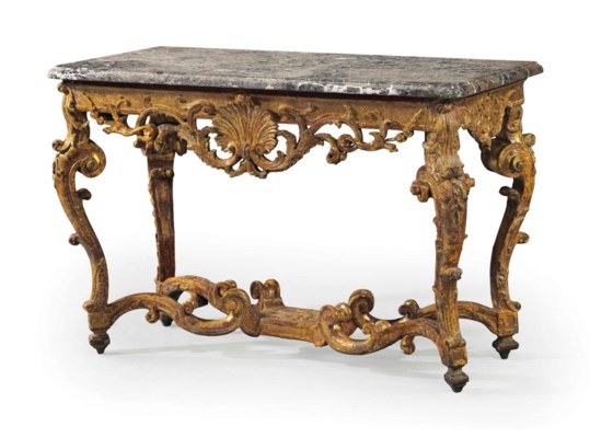 A REGENCE GILTWOOD SIDE TABLE