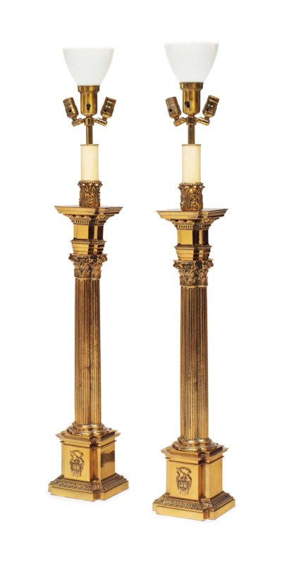 A PAIR OF VICTORIAN BRASS TABL