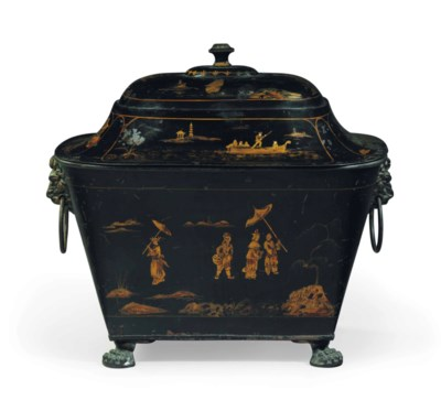 A REGENCY BLACK AND GILT-JAPAN