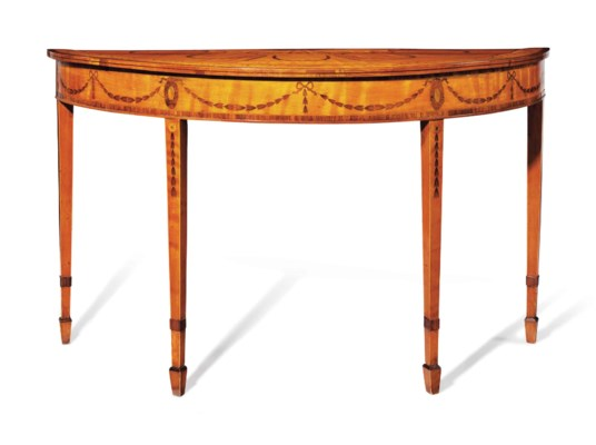 A LATE GEORGE III SATINWOOD, K