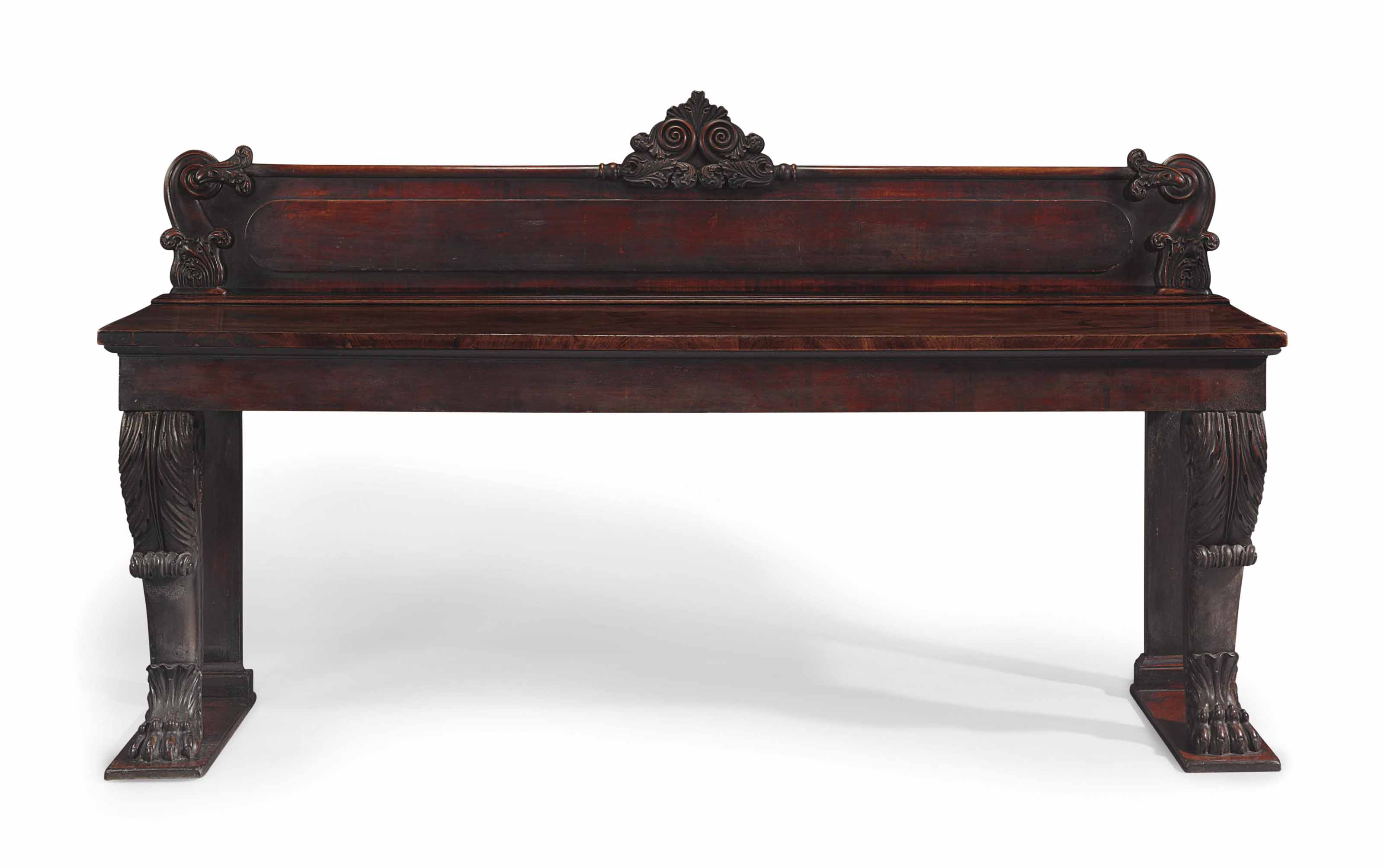 A WILLIAM IV MAHOGANY SERVING