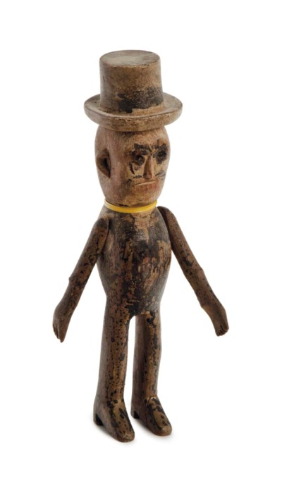 AN AMERICAN PAINTED PUPPET WIT