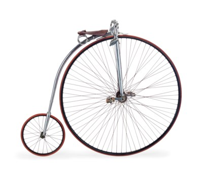 A METAL AND LEATHER HIGH WHEEL
