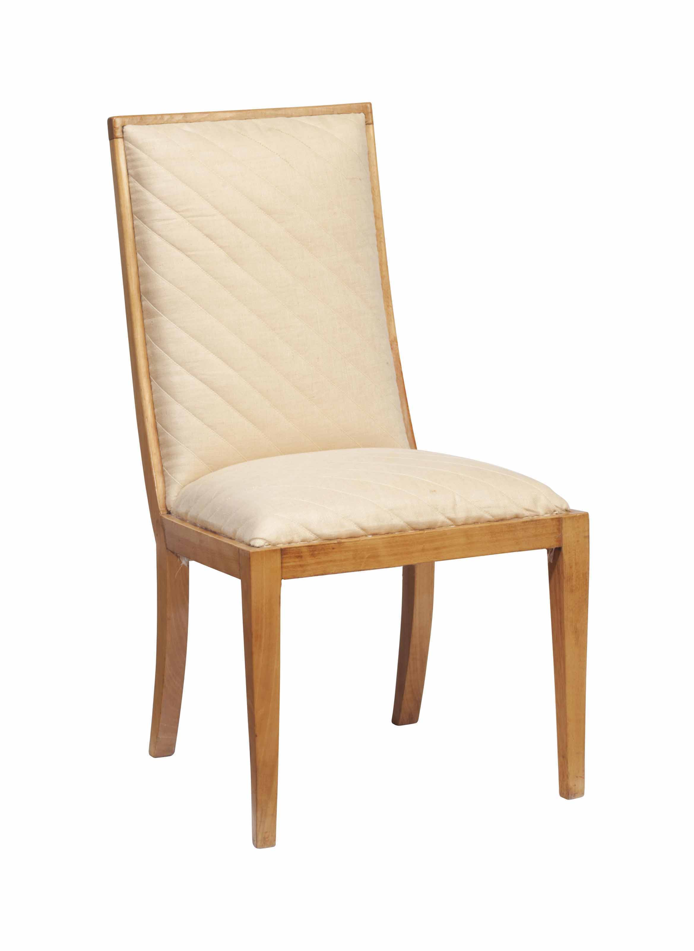 A FRENCH SYCAMORE LOW CHAIR