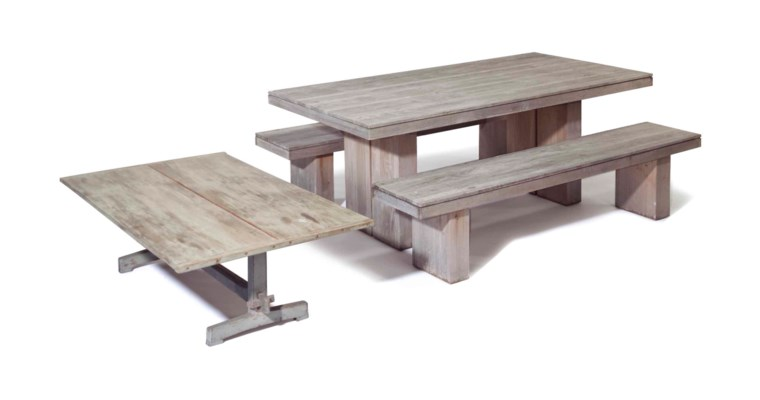 A 'KAYU' TEAK DINING TABLE AND
